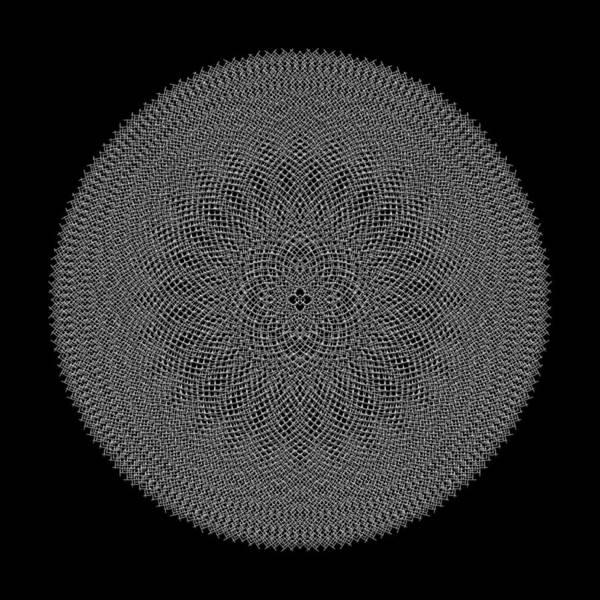 Digital Art - Metallic Mesh Mandala Iva by Robert Krawczyk