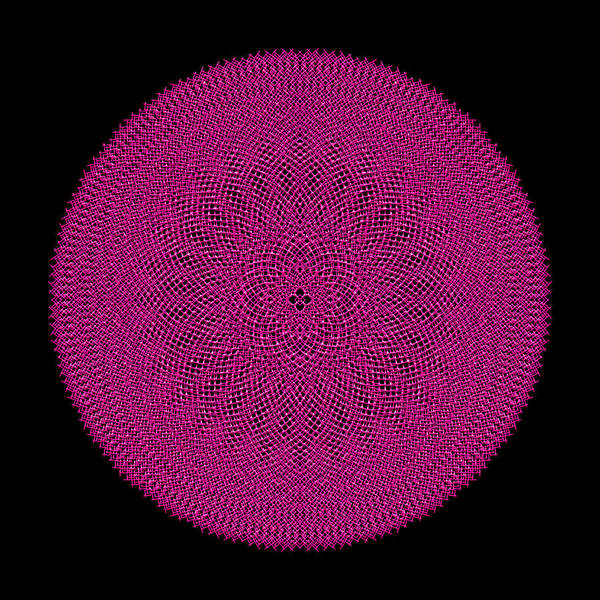 Digital Art - Metallic Mesh Mandala Ivb by Robert Krawczyk