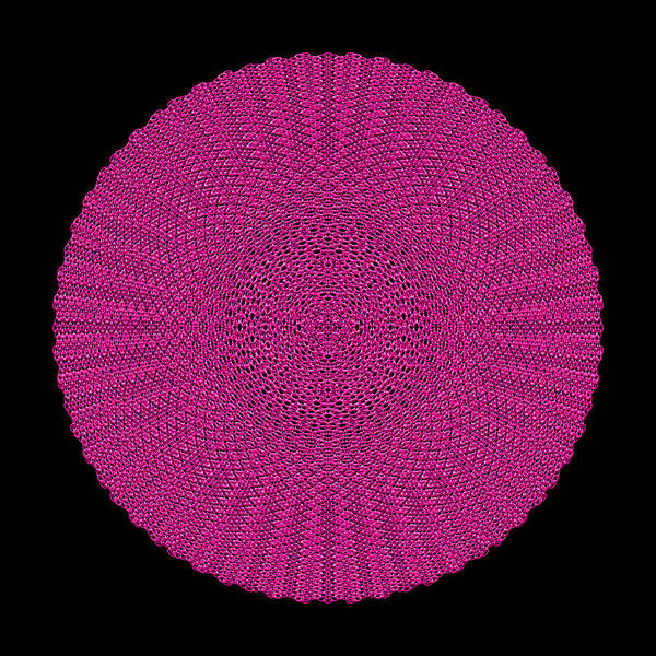 Digital Art - Metallic Mesh Mandala Viiib by Robert Krawczyk