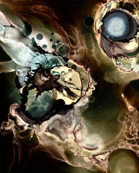 Nebulae Painting - Metallic Nebula by Patricia Lintner