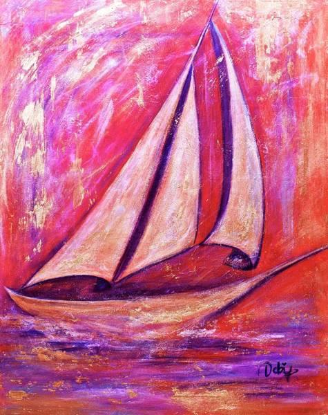 Wall Art - Painting - Metallic Sails by Debi Starr