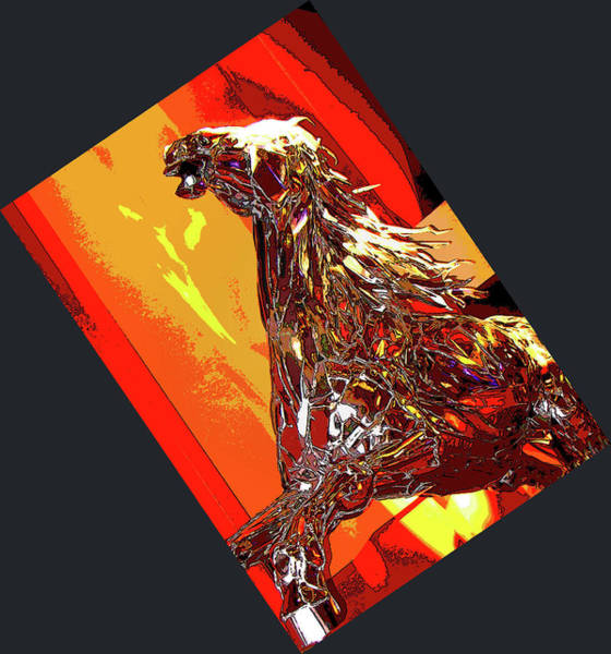 Steed Photograph - Metallic Steed by Al Bourassa