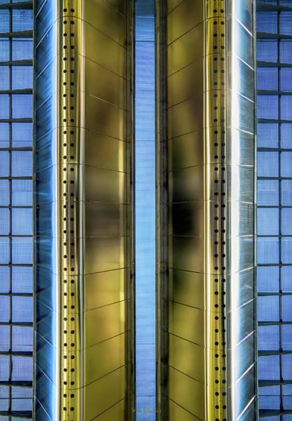 Railroad Bridge Photograph - Metallic by Wim Lanclus