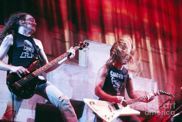 Chris Walter Wall Art - Photograph - Metallica 1986 Cliff And James by Chris Walter