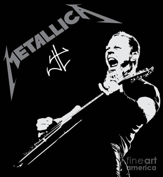 Wall Art - Digital Art - Metallica by Geek N Rock