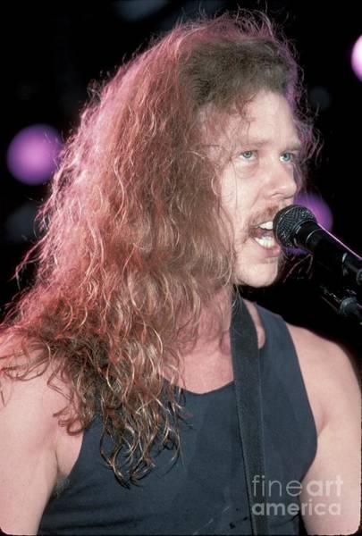 James Hetfield Wall Art - Photograph - Metallica by Concert Photos