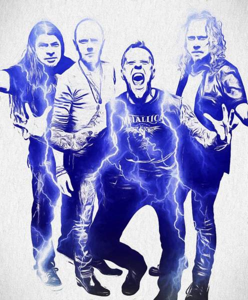 Thrash Metal Wall Art - Painting - Metallica by Dan Sproul