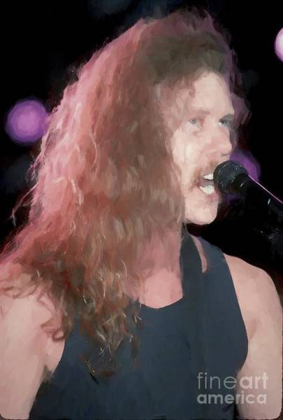 Thrash Metal Painting - Metallica James Hetfield Painting by Concert Photos