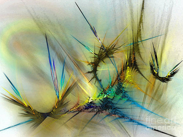 Translucent Digital Art - Metamorphosis by Karin Kuhlmann