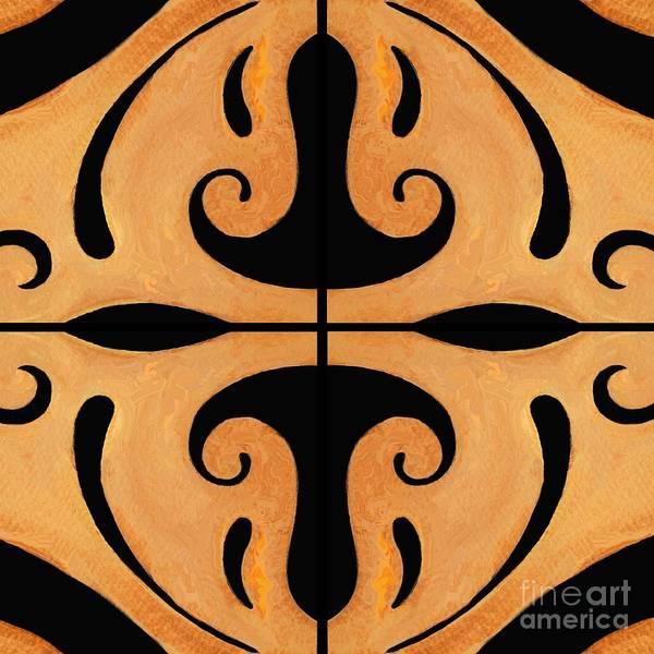 Digital Art - Metamorphosis Of The White Waves Symmetry by Helena Tiainen