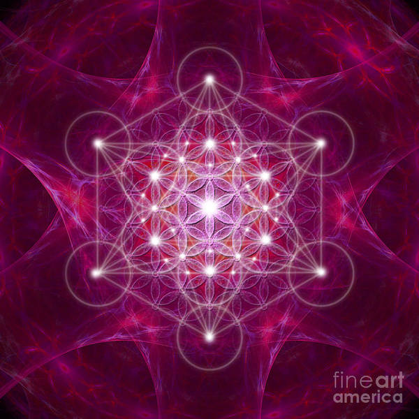 Digital Art - Metatron Cube Fractal by Alexa Szlavics