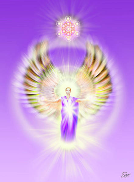 Digital Art - Metatron - Pastel by Endre Balogh