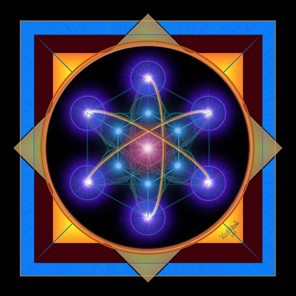 Digital Art - Metatron's Atom by Vincent Autenrieb