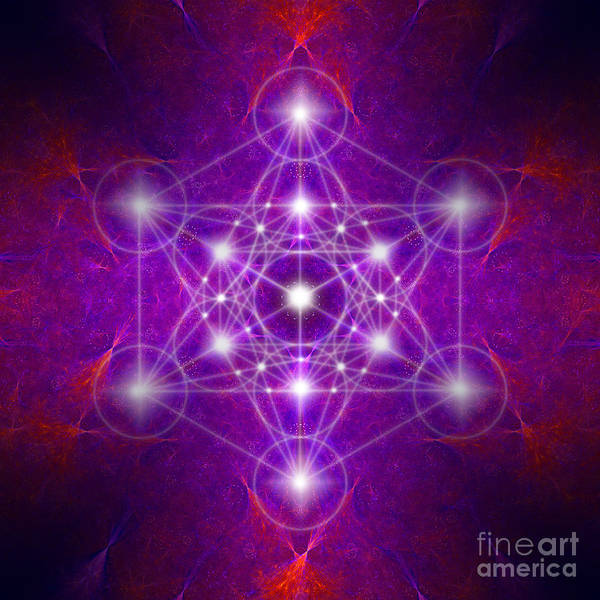 Digital Art - Metatron's Cube Colors by Alexa Szlavics