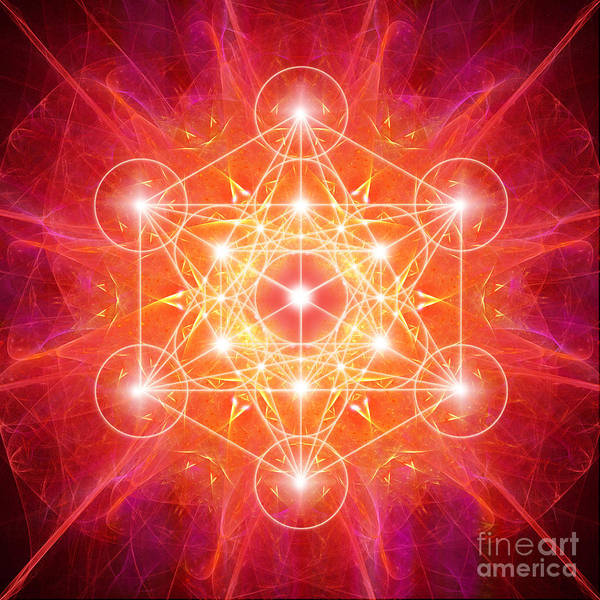 Digital Art - Metatron's Cube Light by Alexa Szlavics