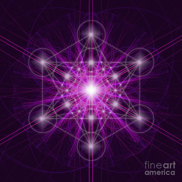 Digital Art - Metatron's Cube Original by Alexa Szlavics