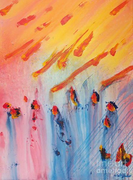 Painting - Meteor Shower by Walt Brodis