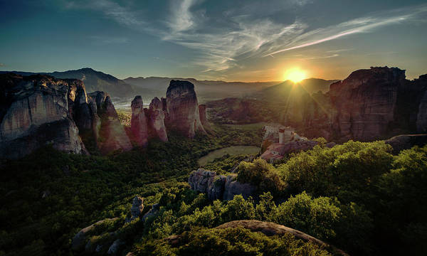 Wall Art - Photograph - Meteora At The Sunset by Jaroslaw Blaminsky