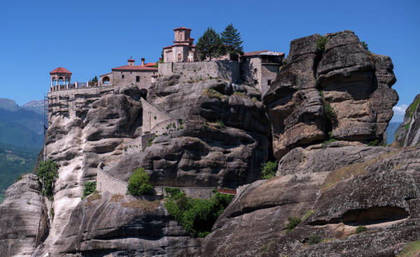 Wall Art - Photograph - Meteora Monastery On Rocks by Jaroslaw Blaminsky