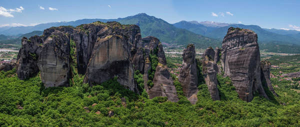 Wall Art - Photograph - Meteora Rocks At Sunrise by Jaroslaw Blaminsky