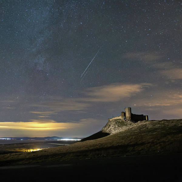 Photograph - Meteors Above The Fortress by Alex Conu