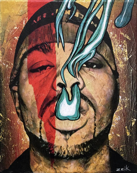 David Choe Wall Art - Painting - Meth - Bring The Pain by Bobby Zeik