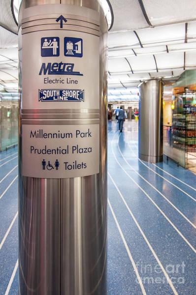 Metra Electric Line Column Sign Art Print