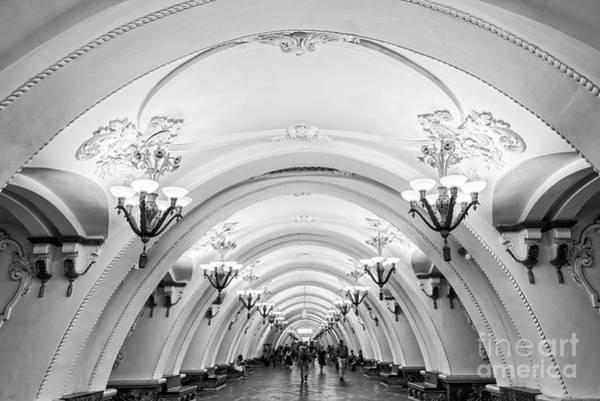 Interior Decorating Photograph - Metro Arbatskaya by Delphimages Photo Creations