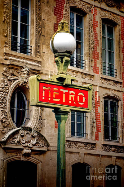 Wall Art - Photograph - Metro by Olivier Le Queinec