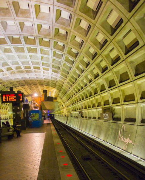 Federal Triangle Wall Art - Photograph - Metro Tunnel by Vaughn Ripley