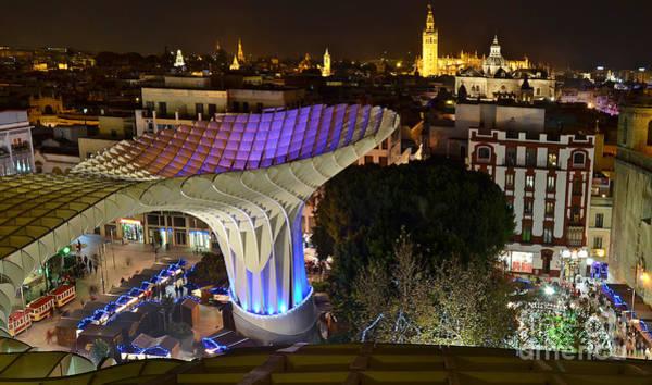 Photograph - Metropol Parasol And Square - Sevilla - Spain by Carlos Alkmin