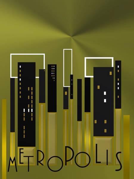Digital Art - Metropolis 10 by Alberto RuiZ
