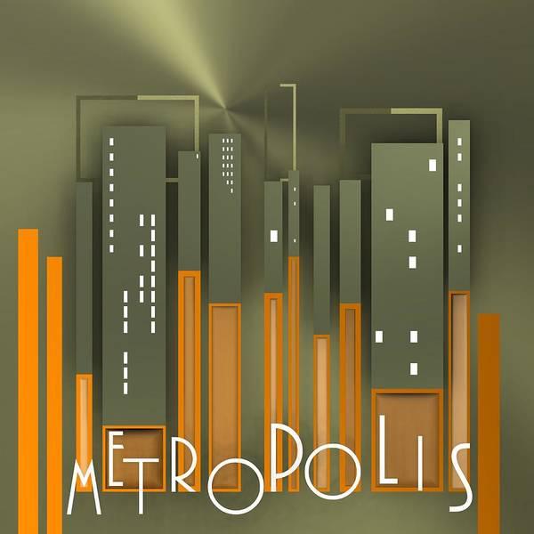 Digital Art - Metropolis 6 by Alberto RuiZ