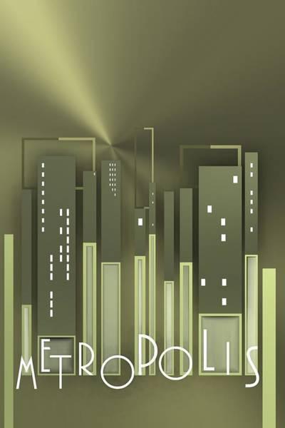Digital Art - Metropolis 8 by Alberto RuiZ