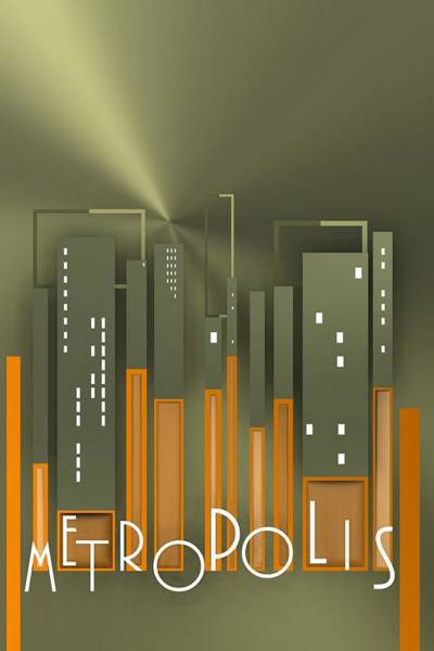 Digital Art - Metropolis 9 by Alberto RuiZ