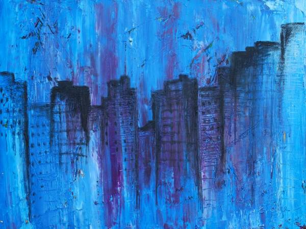 Photograph - Metropolis In Blue by Emily Page