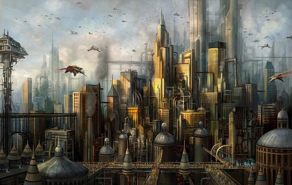 Alien Painting - Metropolis by Philip Straub