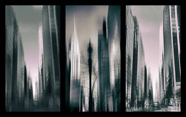 Photograph - Metropolis Triptych 3 by Jessica Jenney