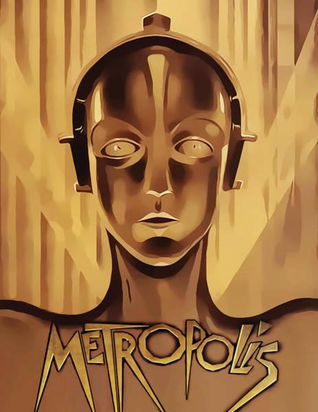 Digital Art - Metropolis - Vertical by Chuck Staley