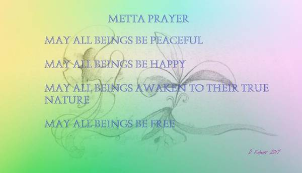 Mixed Media - Metta Prayer by Denise F Fulmer