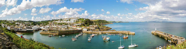 Photograph - Mevagissey Fishing Village, Cornwall Pano 2 by Maggie McCall