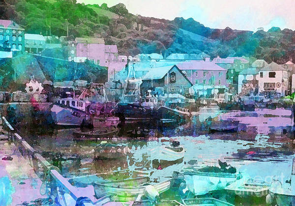 Painting - Mevagissey Harbour by Tracy-Ann Marrison