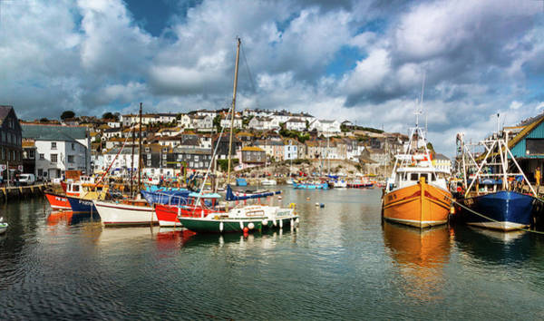 Photograph - Sunny Fishing Boats, Mevagissey, Cornwall, Uk. by Maggie McCall