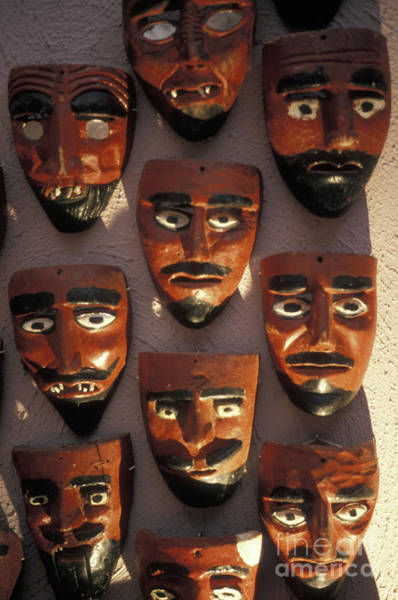 Zacatecas Photograph - Mexican Devil Masks by John  Mitchell