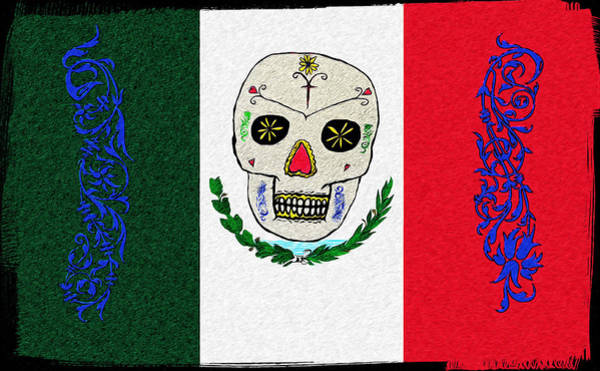 Digital Art - Mexican Flag Of The Dead by Bill Cannon