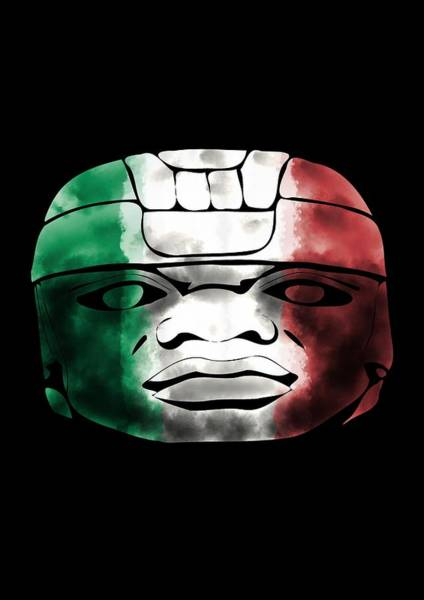 Digital Art - Mexican Olmec by Piotr Dulski
