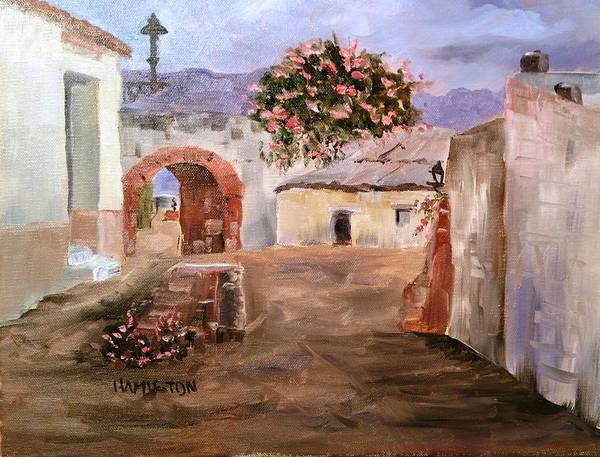 Painting - Mexican Street Scene by Larry Hamilton