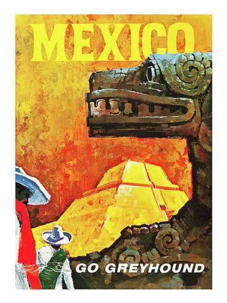 Culture Painting - Mexico, Ancient Culture, Pyramid by Long Shot