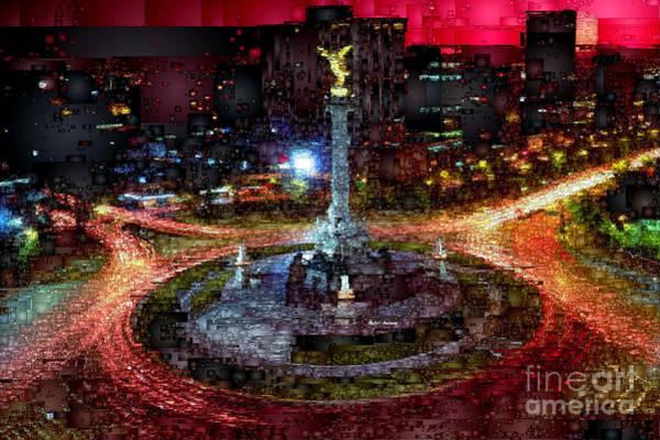 Digital Art - Mexico City D.f At Night by Rafael Salazar