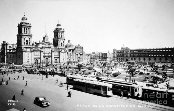 Photograph - Mexico City: Zocalo, C1930 by Granger